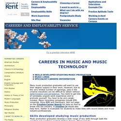 Music and Music Production Careers