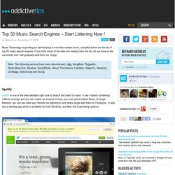 Top 50 Music Search Engines – Start Listening Now !