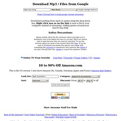 Download mp3s from Google