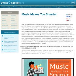Music Makes You Smarter » Online College.org