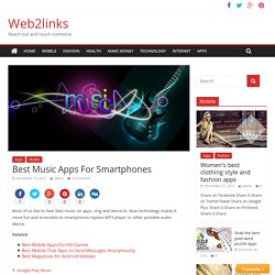 Best Music Apps For Smartphones - Web2links