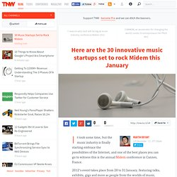 30 Music Startups Set to Rock Midem