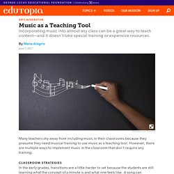 Music as a Teaching Tool