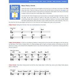 Music Theory: Chords at Learn Music Free
