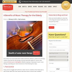 5 Music Therapy Benefits for Seniors