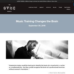 Music Training Changes the Brain — THE SYNC PROJECT