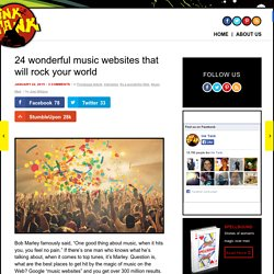 24 music websites every music lover should bookmark right now