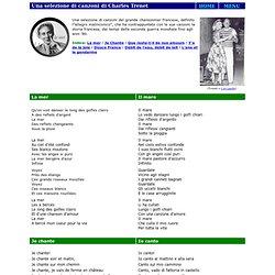 Musica & Memoria / Alcune canzoni di Charles Trenet