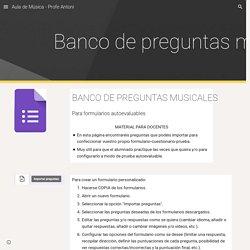 Aula de Música - Profe Antoni - Banco de preguntas musicales
