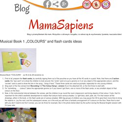 "Musical Book 1 ""COLOURS"" and flash cards ideas"