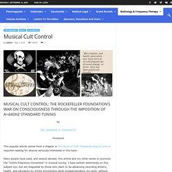 Musical Cult Control - Medical Veritas Inc.