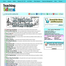 Music - Musical Elements Teaching Ideas