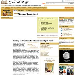 Musical Love Spell