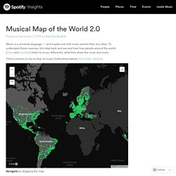 Musical Map of the World 2.0