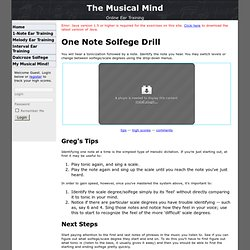 Musical Mind: Single Note Solfege Drill