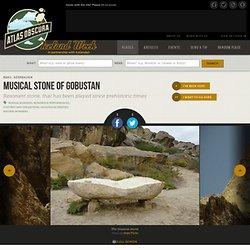 Musical Stone of Gobustan located in Qobustan, Azerbaijan