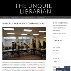Musical Chairs + Book Tasting Rocks!