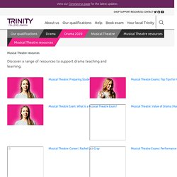 Musical Theatre resources