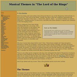 "Musical Themes in ""The Lord of the Rings"""