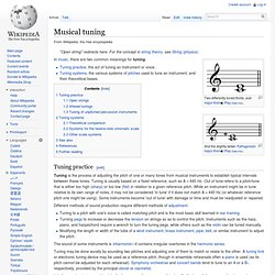 Musical tuning