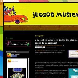 Juegos Musicales: 5 karaokes online en todos los idiomas: ¡cientos de miles de canciones!