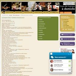 Lexique des termes musicaux - musique, instrument, chant, tempo... - Fasiladom
