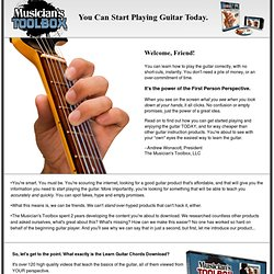 The Musician's Toolbox Learn Guitar Chords DVD: Learn Guitar From YOUR Perspective™