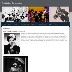 Musicians - The Harlem Renaissance
