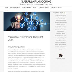 Musicians: Networking The Right Way – Guerrilla Film Scoring