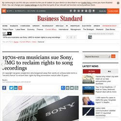 1970s-era musicians sue Sony, UMG to reclaim rights to song recordings
