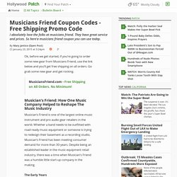 Musicians Friend Coupon Codes - Free Shipping Promo Code