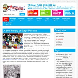 A Brief History of Stage Musicals : Musicline Publications Blog