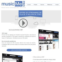 musicMe Pro : Streaming