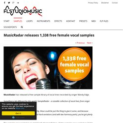 MusicRadar releases 1,338 free female vocal samples