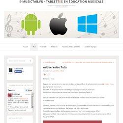 e-musictab.fr - Tablettes en éducation musicale
