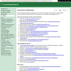 musicteachtech - Interactive Websites