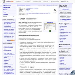 Open Musicwriter - Musique - Logiciels Libres