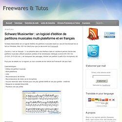 un logiciel d'édition de partitions musicales multi-plateforme et en français