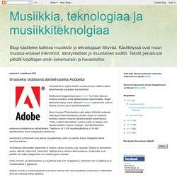 Ilmaiseksi ladattavia äänitehosteita Adobelta