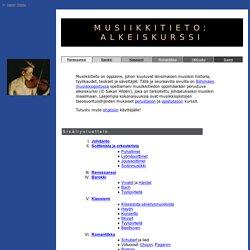 Musiikkitieto, alkeiskurssi, 1. osa: renessanssi ja barokki