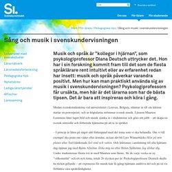 Sång och musik i svenskundervisningen