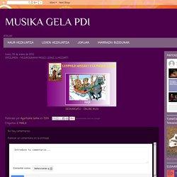MUSIKA GELA PDI: ENTZUMEN - MUSIKOGRAMA PASEO LERAZ (L.MOZART)