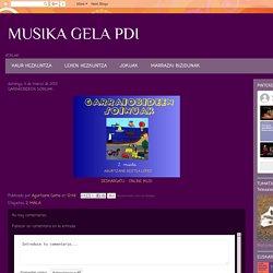 MUSIKA GELA PDI: GARRAIOBIDEEN SOINUAK