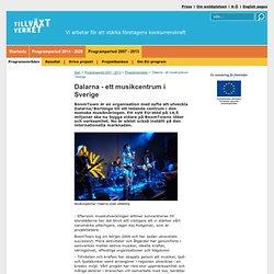 Dalarna - ett musikcentrum i Sverige - Tillväxtverket