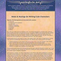 Writing Cute Characters