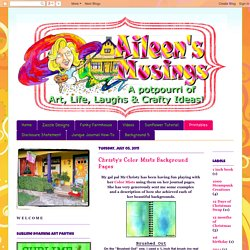 Aileen's Musings: Christy's Color Mists Background Pages
