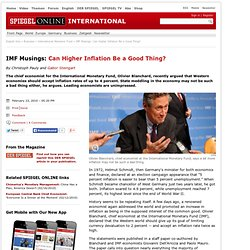 IMF Musings: Can Higher Inflation Be a Good Thing? - SPIEGEL ONL
