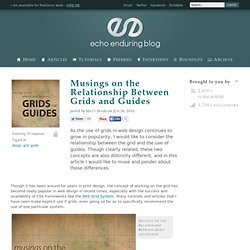 Musings on the Relationship Between Grids and Guides