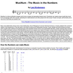 MusiNum - The Music in the Numbers