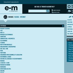Musique - Accueil - Internet